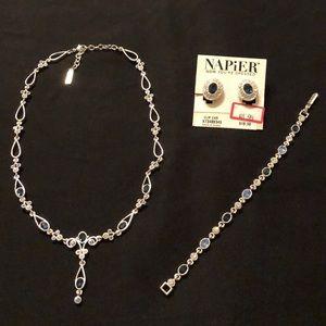 Napier necklace, bracelet and clip earring set